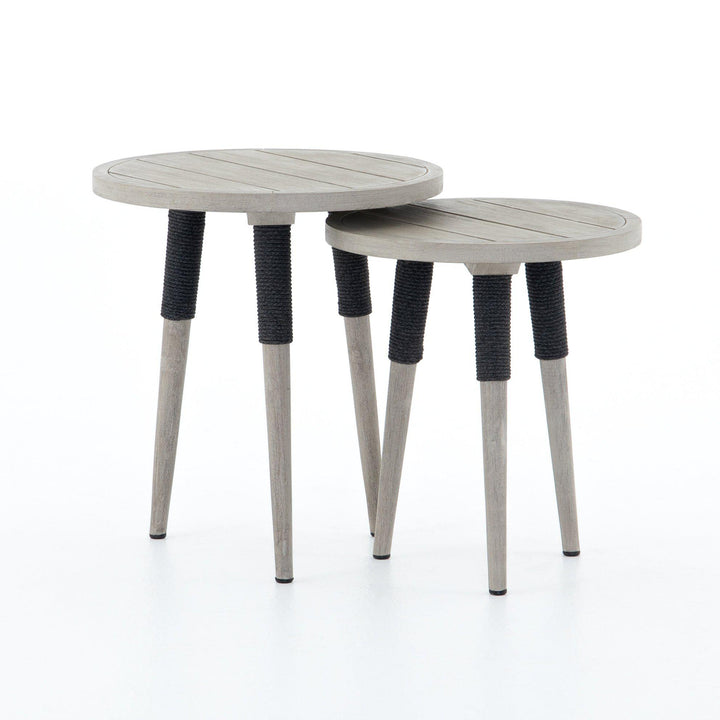 Sana Outdoor End Table - Set of 2 | Outdoor Accent Table | parker-gwen