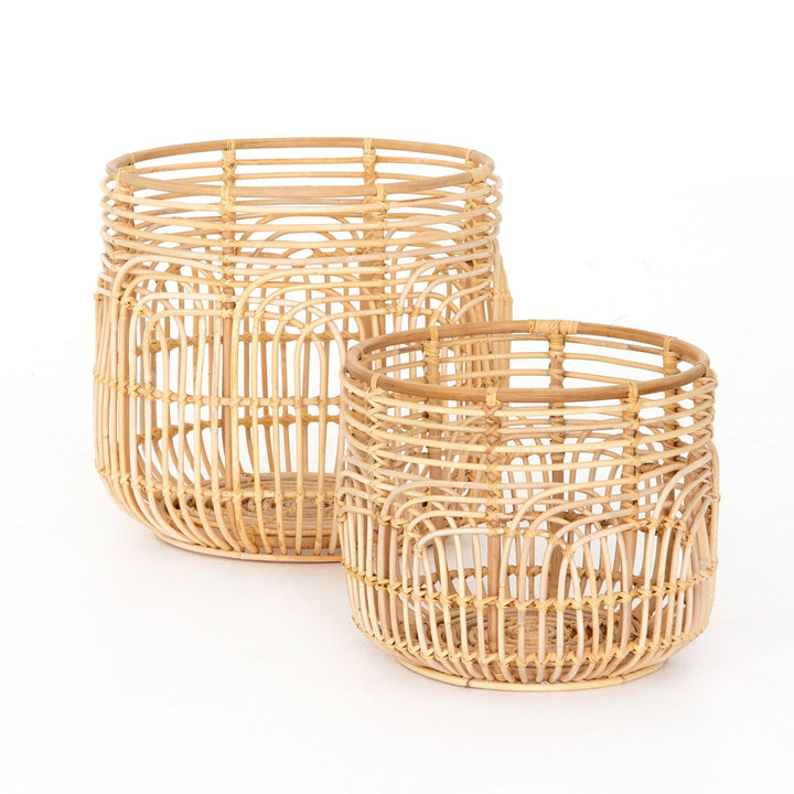 Aldo Woven Rattan Baskets (Set of 2) | Basket | parker-gwen