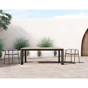 "Kelso 79"" Outdoor Dining Table (Washed Brown)"