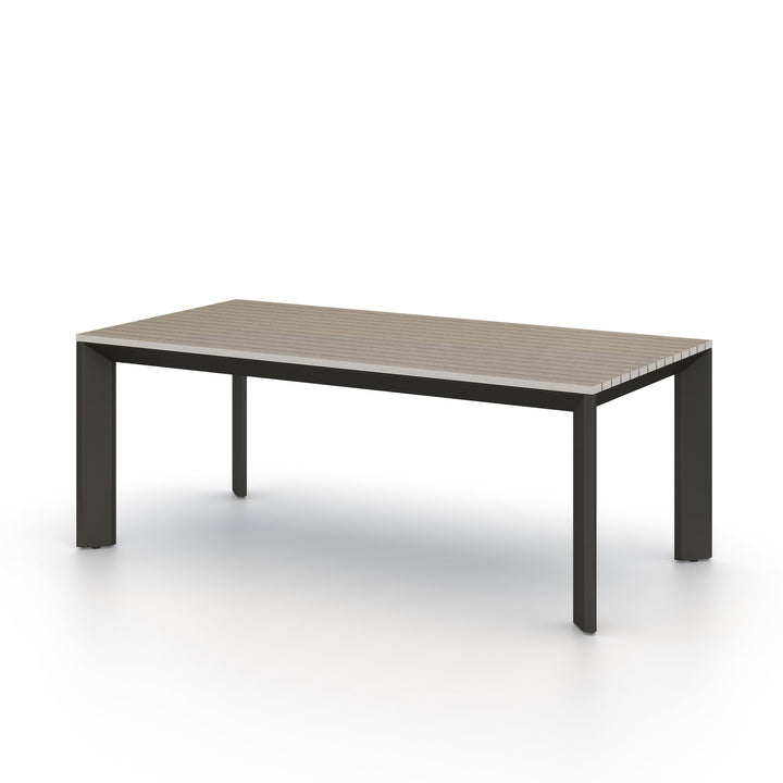 "Kelso 79"" Outdoor Dining Table (Weathered Grey)"