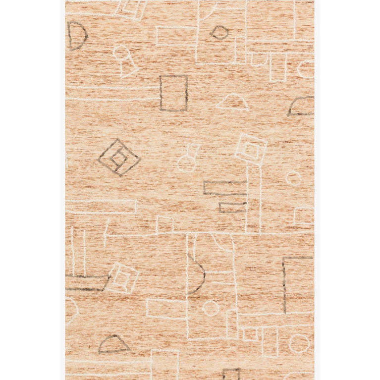 Leela Rug Collection: Multiple Sizes & Shapes - (Terracotta/Natural)