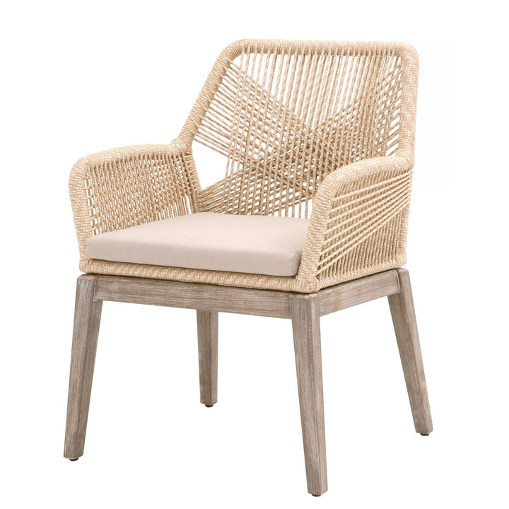 Loom Rope Arm Chair: Set of 2 (Sand Rope) | Dining Chair | parker-gwen