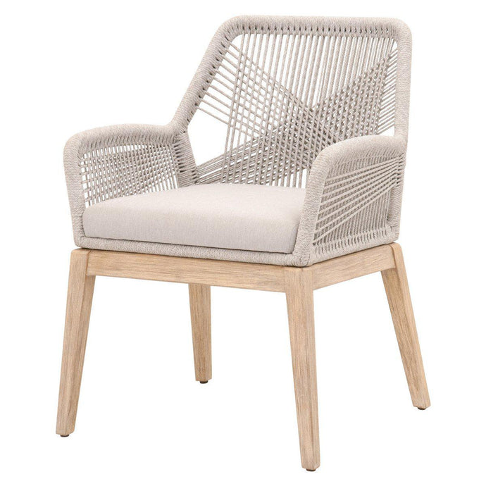 Loom Rope Arm Chair - Set of 2 (Taupe)