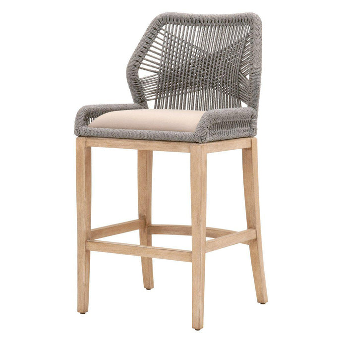 Loom Rope Counter or Bar Stool (Platinum)