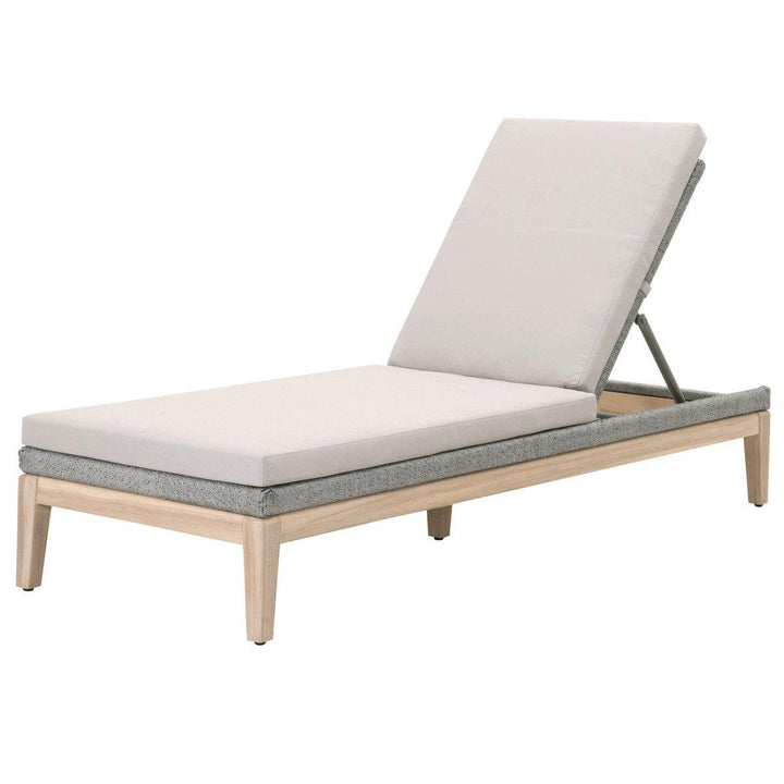 Loom Outdoor Chaise (Platinum) | Outdoor Lounging | parker-gwen