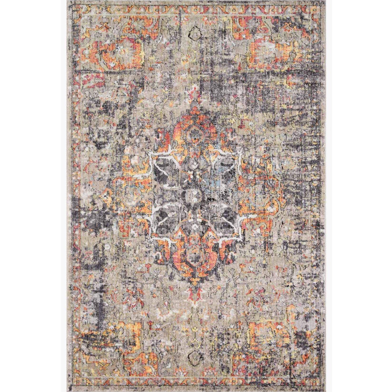 Medusa Rug Collection: Multiple Sizes & Shapes - (Taupe/Sunset)