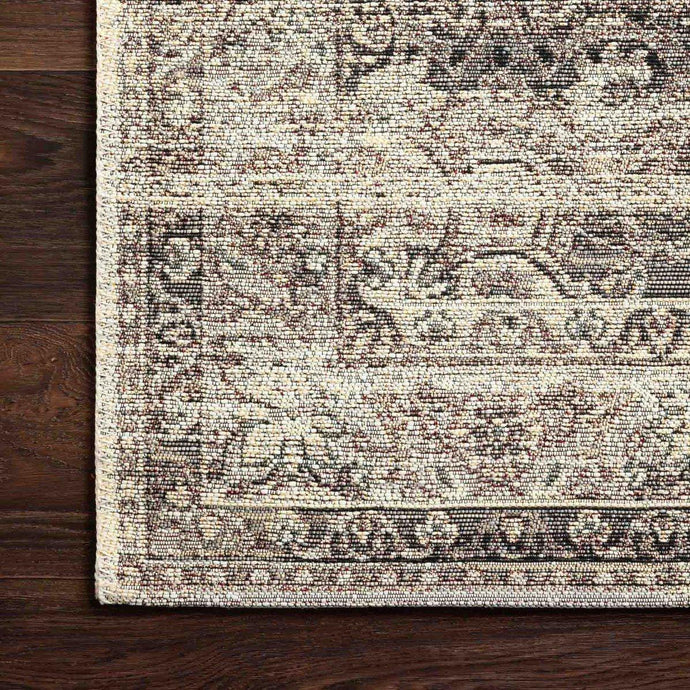 Loloi Mika Collection Indoor/Outdoor Rugs - Multiple Sizes (Stone/Ivory)
