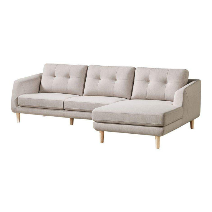 "COREY 106"" SECTIONAL: RIGHT Facing (Light Grey)"