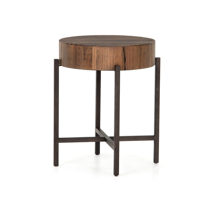 Tinsley Reclaimed End Table (Natural Brown) | Side Table | parker-gwen
