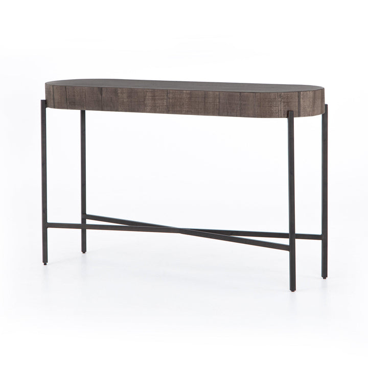 "Tinsley 50"" Oval Console Table (Distressed Grey) 