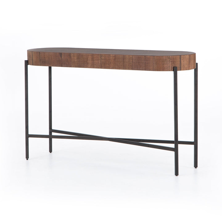 "Tinsley 50"" Reclaimed Oval Console Table (Natural Brown) 