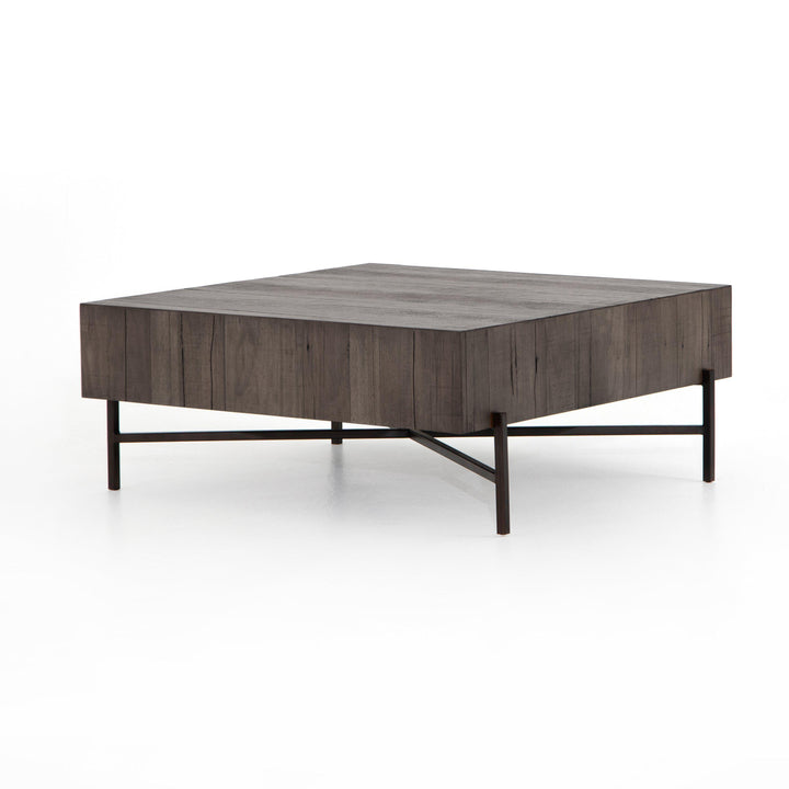 "Tinsley 41"" Square Coffee Table (Distressed Grey)"