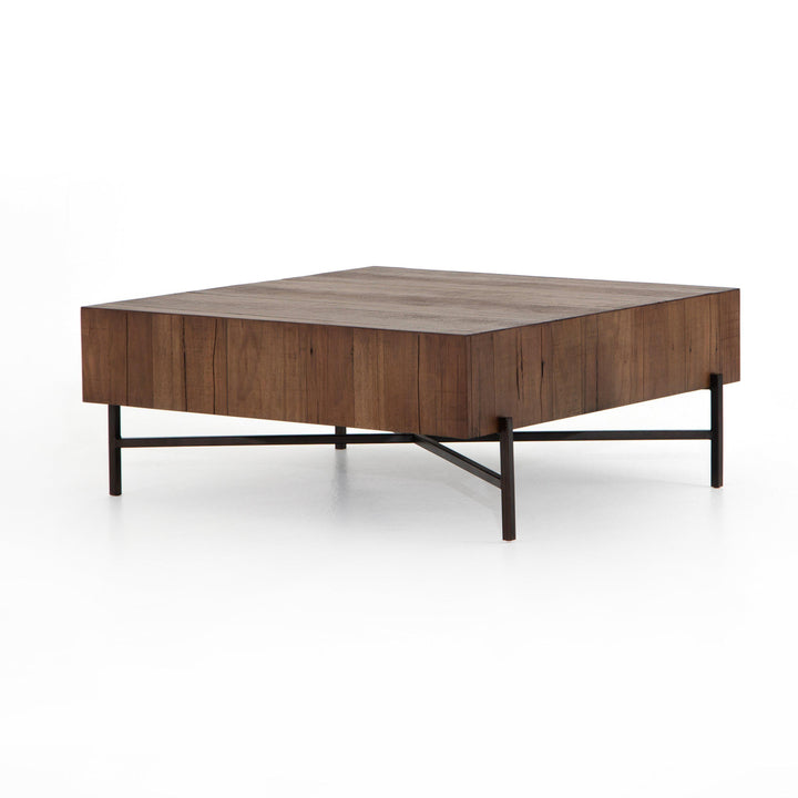 "Tinsley 41"" Square Coffee Table (Natural Brown) 