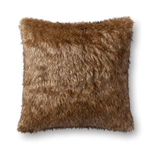"Loloi Faux Fur Pillow: 22"" (Multi)"