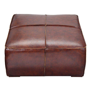 "Stamford Leather 37"" Coffee Table (Brown) - Parker Gwen"