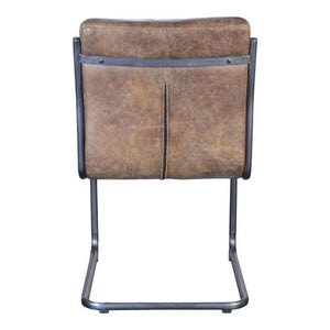 Ansel Leather Dining Chair (Whiskey Brown) - Set of 2 - Parker Gwen