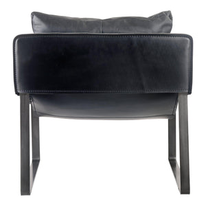 Connor Leather Club Sling Chair