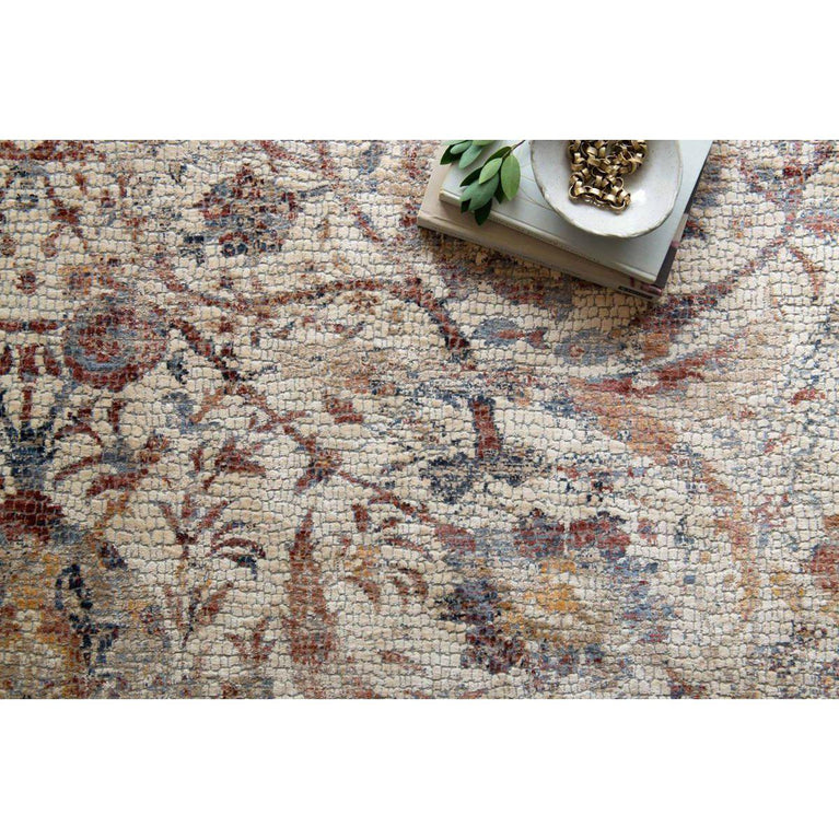 Loloi Porcia Collection Mosaic Rugs - Multiple Sizes (Ivory / Multi)