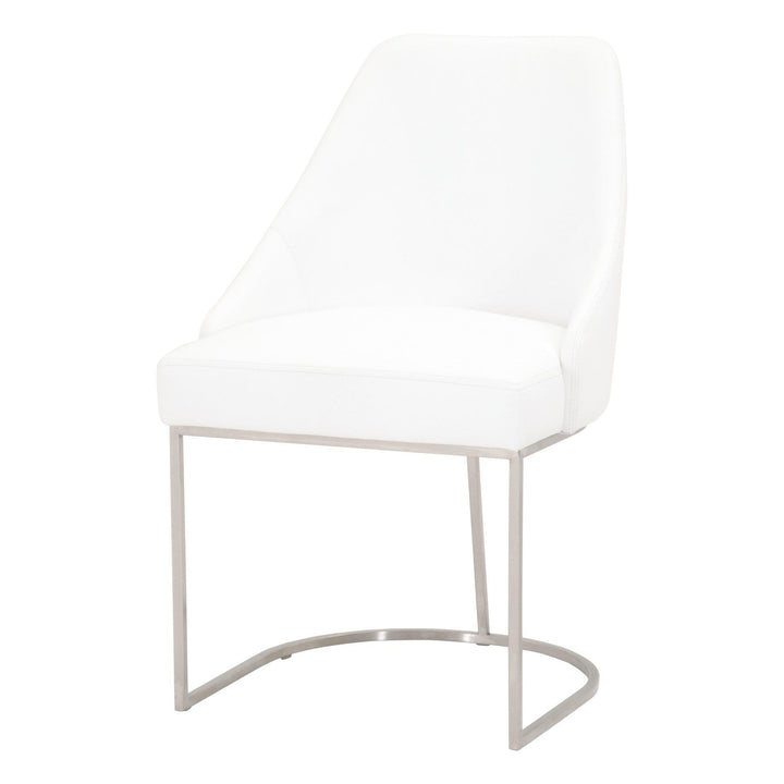 Parissa Leather Dining Chair- Set of 2 (Pure White) | Dining Chair | parker-gwen