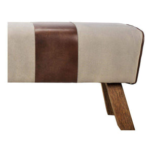 "Pommel 52"" Leather & Canvas Bench - Parker Gwen"