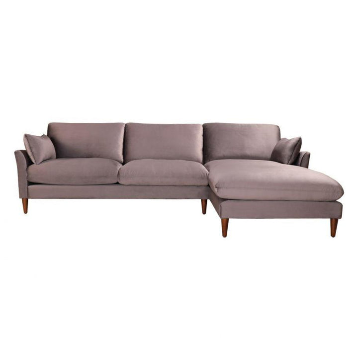 "SUMA 110"" Velvet SECTIONAL (Grey)"