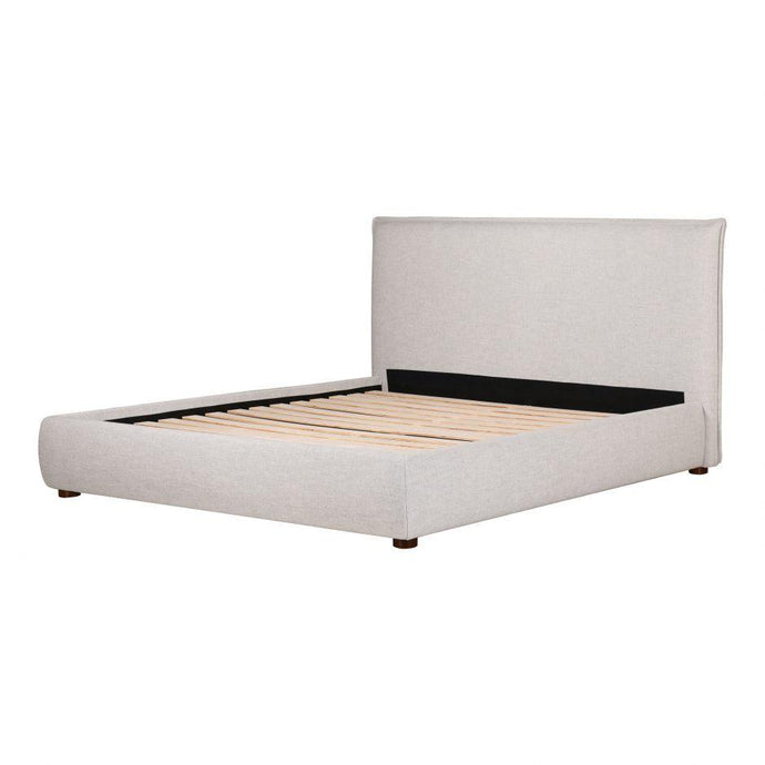 Luzon Causual Queen or King Upholstered Bed (Light Grey)