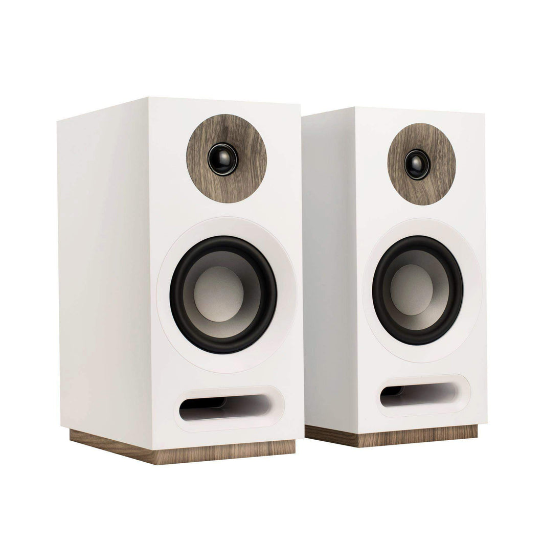 Jamo S 803 BOOKSHELF SPEAKER Pair (White) - Parker Gwen