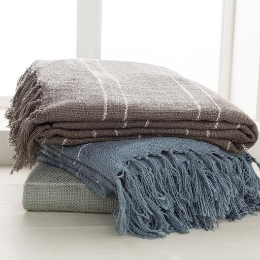 "Traveler Lightweight Acrylic Throw Blanket 50"" x 60"" (Gray) 