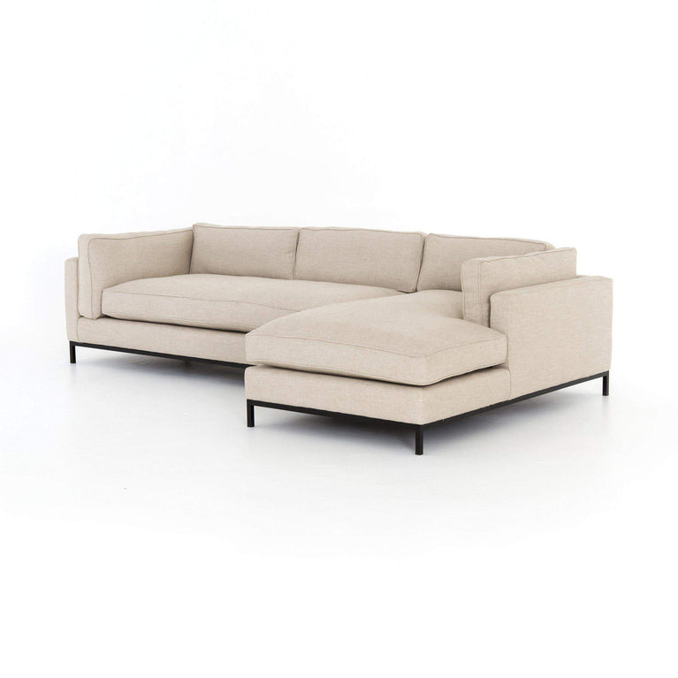 Grammercy 2-Piece Left or Right Arm Facing Chaise Sectional: Oak Sand - Parker Gwen