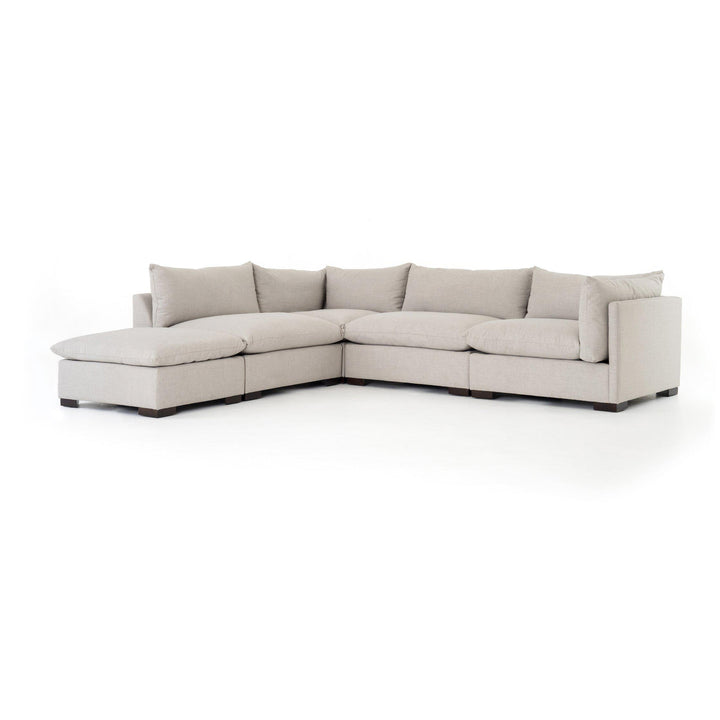 Westwood 4-Piece Sectional with Ottoman Chaise (Bennett Moon) | Sectional | parker-gwen