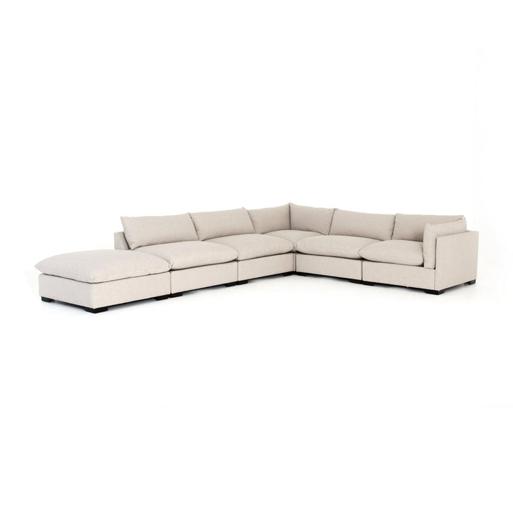 Westwood 5-Piece Sectional with Ottoman Chaise (Bennett Moon) | Sectional | parker-gwen