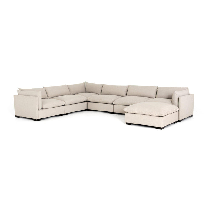 Westwood 6-Piece Sectional with Ottoman Chaise (Bennett Moon) | Sectional | parker-gwen