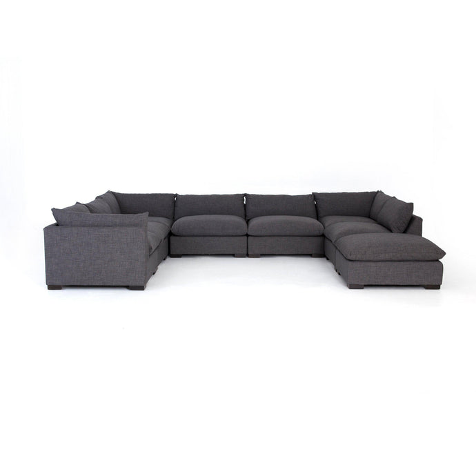 Westwood 7-Piece Sectional with Ottoman Chaise (Bennett Charcoal) | Sectional | parker-gwen