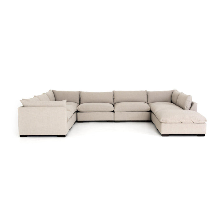 Westwood 7-Piece Sectional with Ottoman Chaise (Bennett Moon) | Sectional | parker-gwen