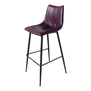 Alibi Bar or Counter Stool (Purple) - Set of Two - Parker Gwen