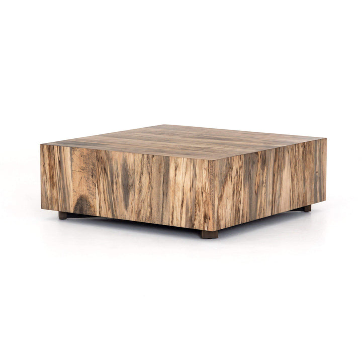 "Hudson 40"" Square Coffee Table (SPALTED PRIMAVERA) - Wesson Collection - Parker Gwen"
