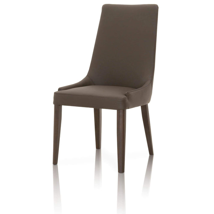 Aurora Leather Dining Chair: Set of 2 (Dark Umber & Dark Wenge) - Parker Gwen