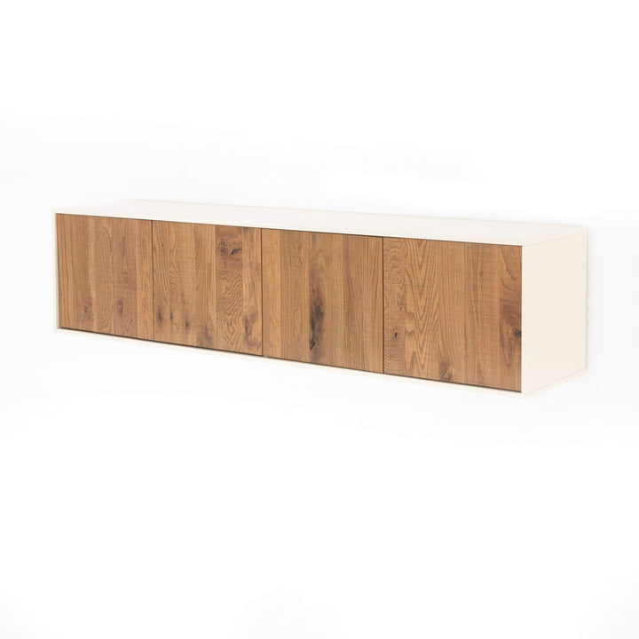 "Cien 69"" Floating Media Console (Cream) - Parker Gwen"