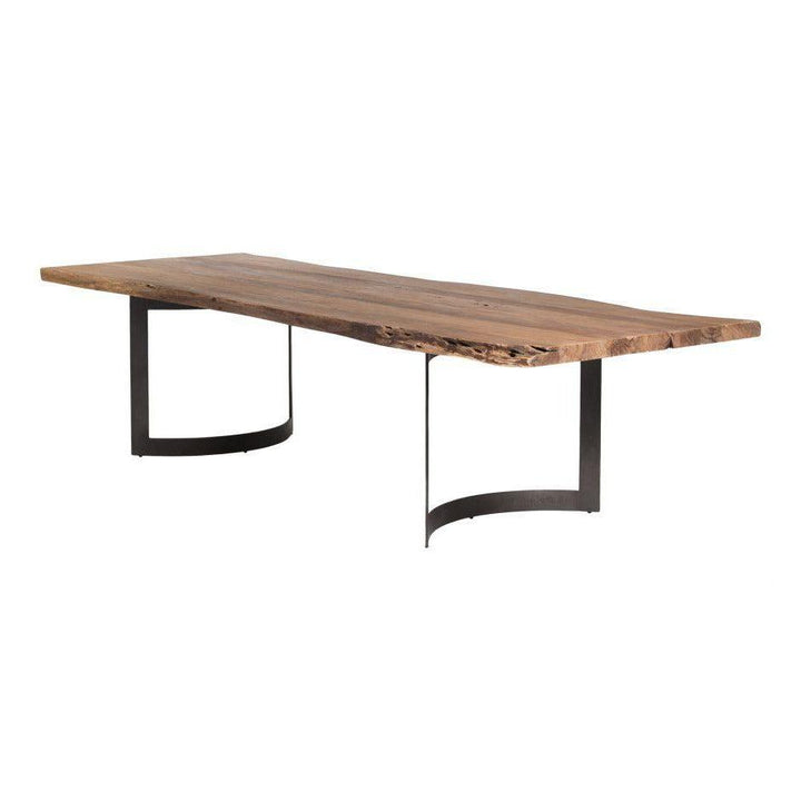 "Bent Dining Table 78"", 99"" or 118"" (Smoked)"
