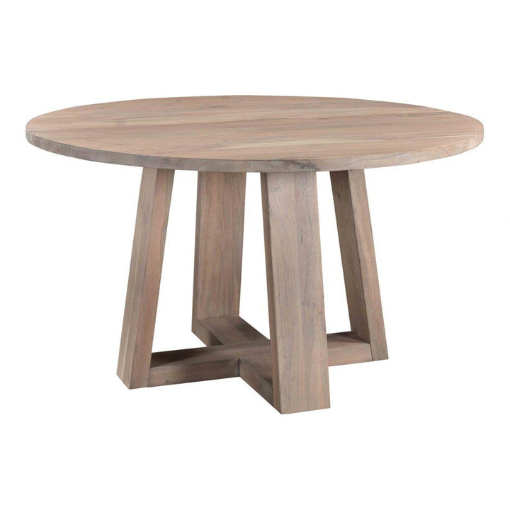 "Tanya Round Wood 54"" Dining Table 