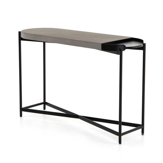 Lyndall Console Table (Concrete) | Console Table | parker-gwen
