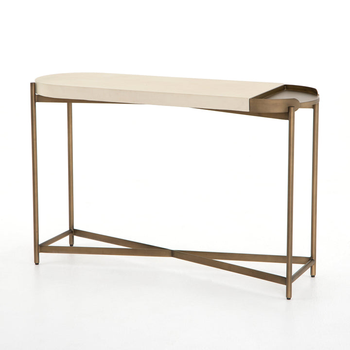Lyndall Console Table (Parchment White) | Console Table | parker-gwen