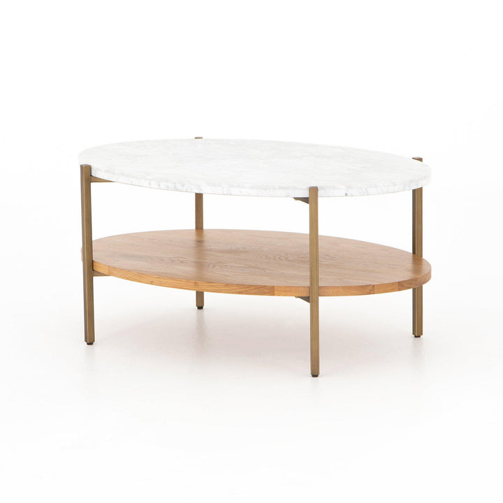 Olga Mixed Material Coffee Table | Coffee Table | parker-gwen