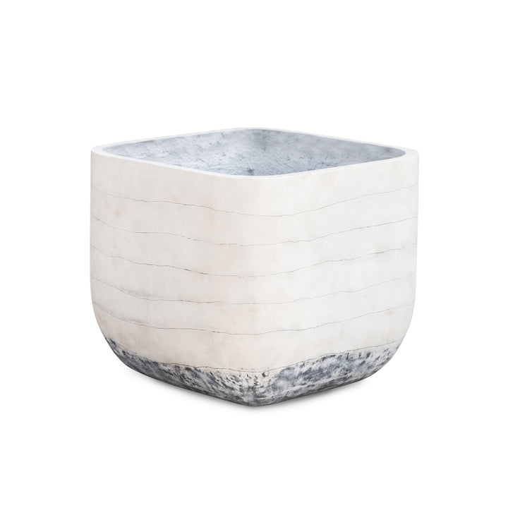 "Ingall 20"" Square Concrete Planter (Grey Ombre)"