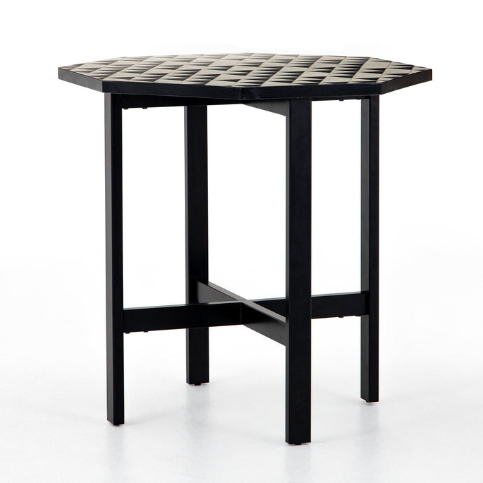 Troy Mosaic Concrete Outdoor Counter or Bar Table | Outdoor Dining | parker-gwen
