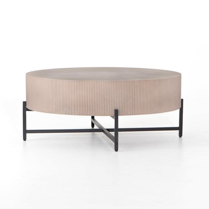 "Jolene Outdoor 40"" Round Concrete Table 