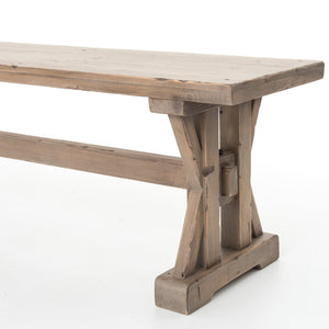 "Tuscan Spring 63"" Dining Bench (Sundried Wheat) 
