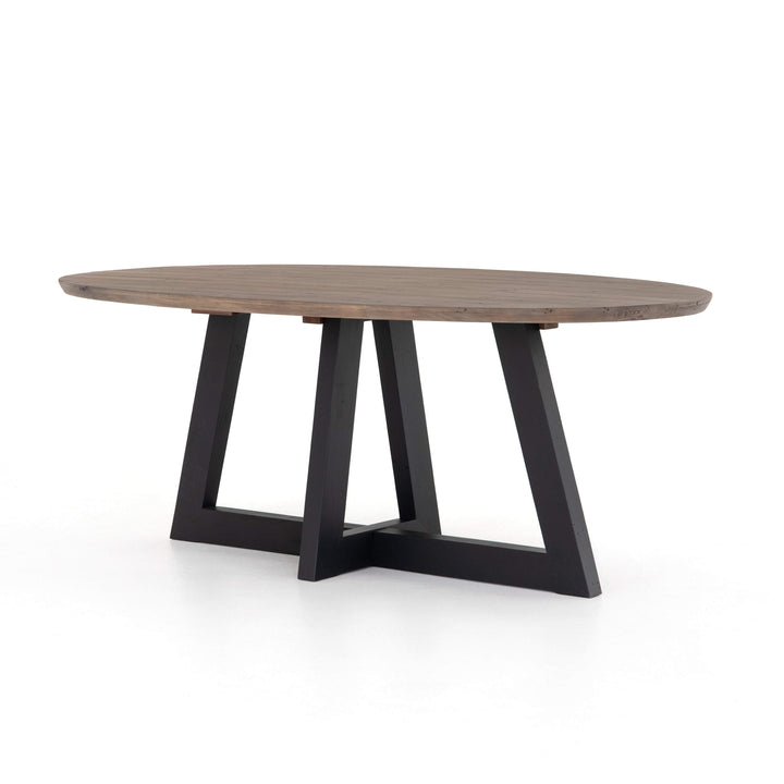 "Price 79"" Oval Dining Table (Sundried Ash) - Parker Gwen"