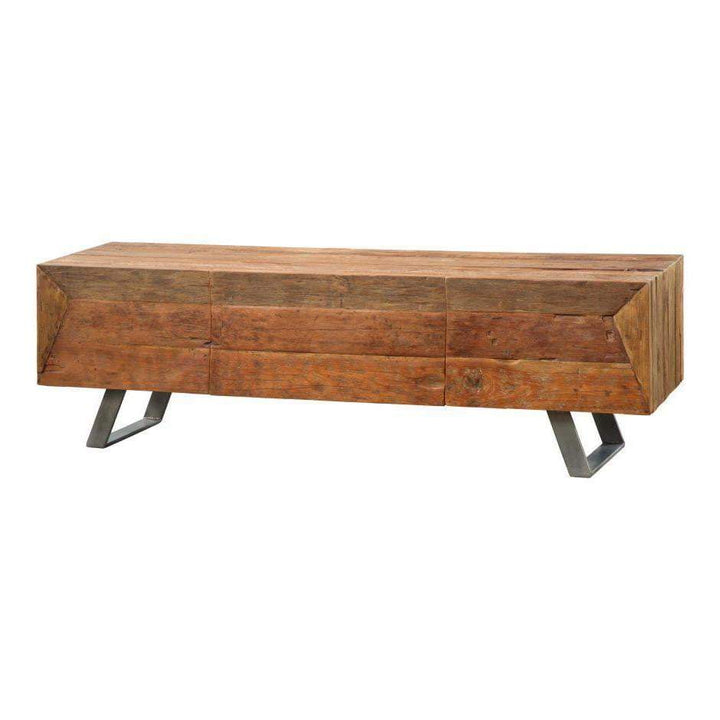 "Corral 71"" Solid Reclaimed Wood TV Table"
