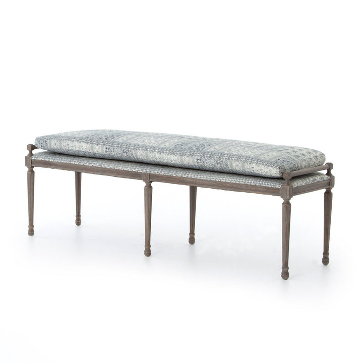 "Abbott Collection Lucille 67"" Dining Bench: Batik Indigo-Dining Bench-Parker Gwen"